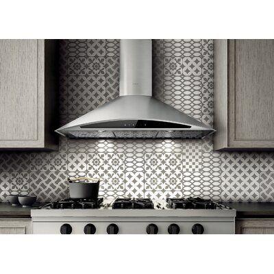 Elica 36 Foglia 600 Cfm Ducted Wall Mount Range Hood In 2020 Wall Mount Range Hood Stainless Steel Range Hood Kitchen Bath