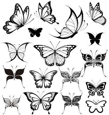 Black White Butterflies Of A Tattoo Weisser
