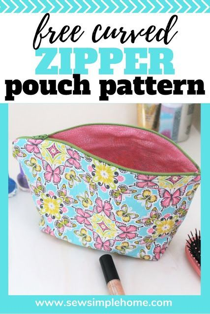 Quick Zipper Pouch Tutorial Free Cosmetic Bag Pattern In 2020