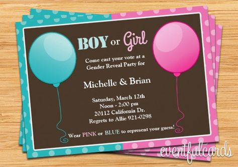 Free Downloadable Gender Reveal Invitations | Free Download Baby Gender Reveal Party Invitation Pink Blue From ...