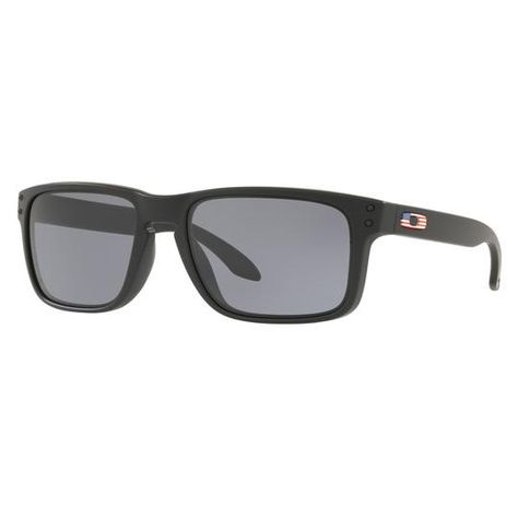 7e5c96f67b Oakley SI Holbrook USA Flag Matte Black with Grey Lenses