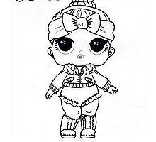 Lol Surprise Doll Cruisin With Cozy Color Your Own By Solomom Muneca Dibujo Munecas Lol Mandalas Para Colorear