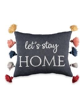 Let's Stay In Bed Pillow Cover Lumbar