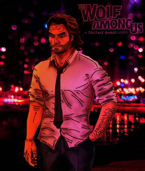 Cool Art Fables Bigby Wolf A Great Image Of Bigby Wolf From The Fables Comic And The Wolf Among Us Video The Wolf Among Us Comic Books Illustration Cool Art