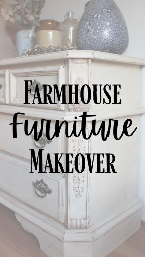 Painted Farmhouse Dresser Makeover