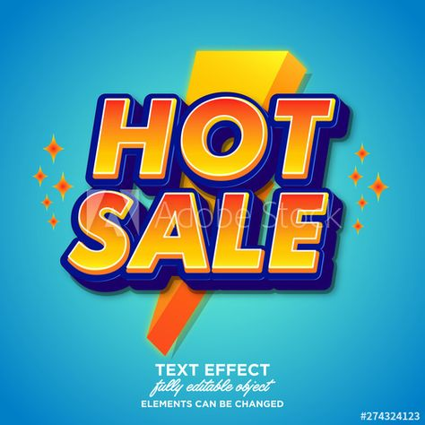 Editable hot sale sticker font effect - Buy this stock vector and explore similar vectors at Adobe Stock