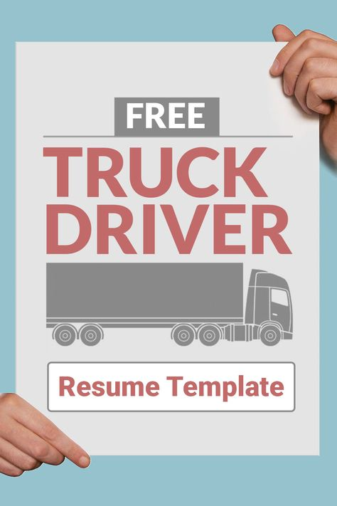 Get our free truck driver resume template so that you can get - truck driver job description for resume