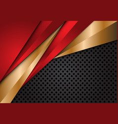 Red Gold Metallic Triangle On Grey Circle Mesh Vector Red And Black Background Red And Silver Wallpaper Black Abstract Background