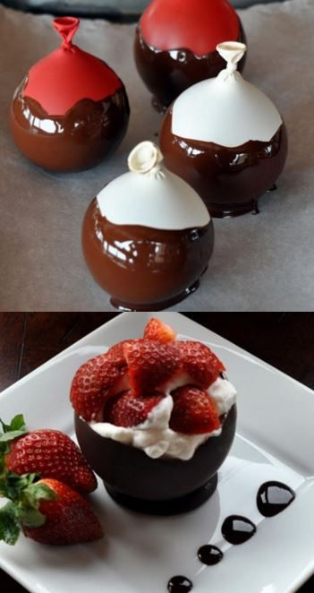 Vivian Malachwskyj 🎂🍷🥂 on Dessert Im Glas Vegan, Mousse Dessert, Creme Dessert, Baking Recipes, Snack Recipes, Dessert Recipes, Snacks, Chocolate Bowls, Chocolate Desserts