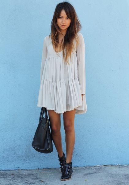Summer babydoll dress with a bohemian touch. Sincerely Jules. #rasspstyle #StreetStyle