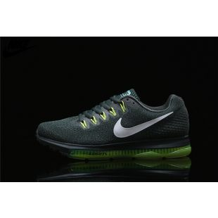 ae1eb216f58 ... sale mens nike zoom all out low running shoes dark grey fluorescent  green white 878670 300