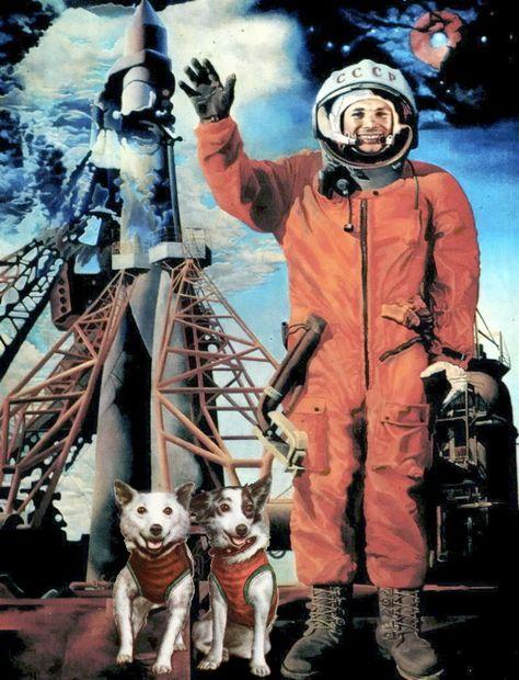 Гагарин, Белка и Стрела победили земную гравитацию и вышли в космос