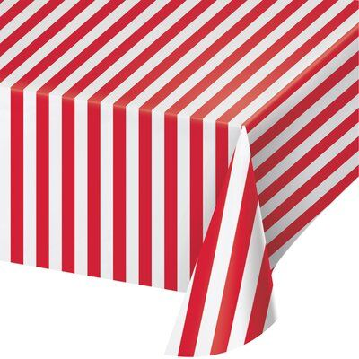 Creative Converting Circus Animals Plastic Disposable Tablecloth