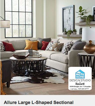 Allure L Shaped Large Sectional Custom Furniture At Hgtv Home