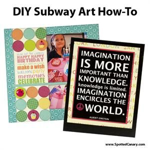 DIY Subway Art How-To - Subway Art Tutorial on Spotted Canary