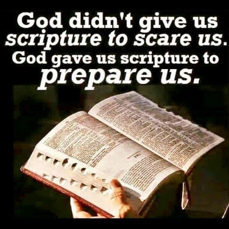 God didn't give us scripture to scare us. God gave us scripture to prepare us. Bible Verses Quotes, Bible Scriptures, Faith Quotes, Bible Doctrine, Bible Truth, Godly Man, God First, Jesus Loves, Spiritual Quotes