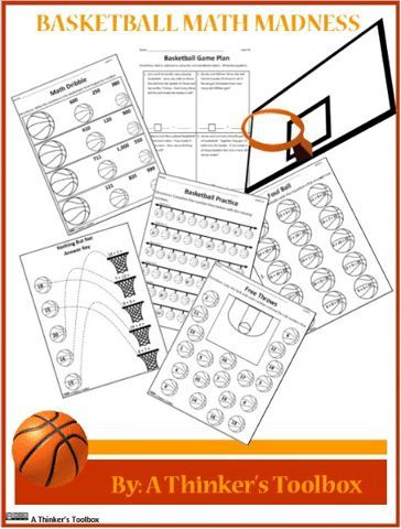 Basketball Math Worksheets Printables Basketball Math Math Madness Math