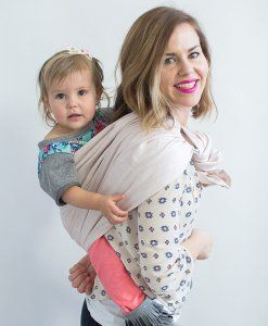 Hope Carried Linen Ring Sling In Blush Baby Toddler Life Baby
