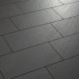 Shop American Olean Carbon Mist Slate Porcelain Floor And