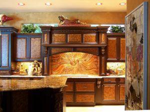 Copper Kitchen Backsplash Murals Copper Backsplash Wooden