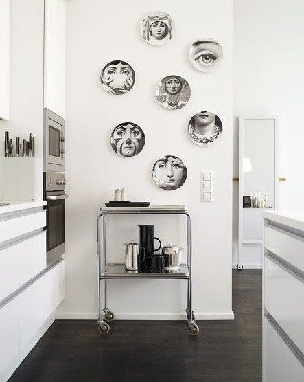 How To Decorate With Fornasetti Plates On Wall