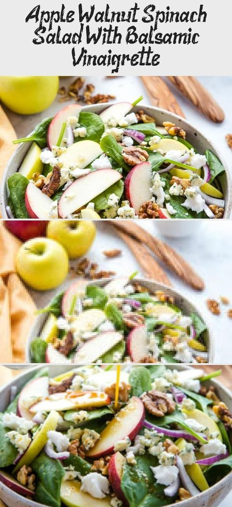 Apple Walnut Spinach Salad With Balsamic Vinaigrette - Salad Recipes -  This App... -  Apple Walnut Spinach Salad With Balsamic Vinaigrette – Salad Recipes –  This Apple Walnut Spina - #App #apple #balsamic #recipes #salad #saladdressinghealthy #saladdressinghomemade #saladdressingrecipes #saladdressingrecipesbalsamic #saladdressingrecipeseasy #saladdressingrecipeshealthy #saladdressingrecipeshomemade #saladdressingrecipesvinaigrette #spinach #vinaigrette #walnut