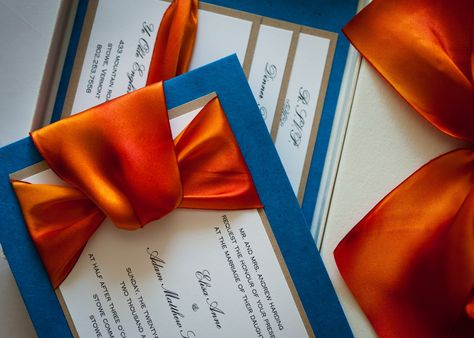 Blue And Orange Wedding Invitations Ideas For Christine S Pinterest Weddings