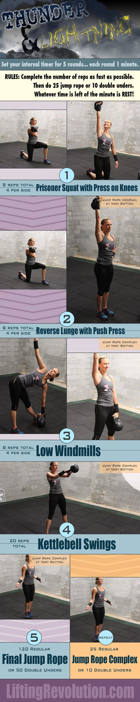 15 Minute Thunder And Lightening Workout: Kettlebell & Jump Rope