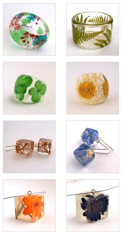 Handmade jewelry with resin and flowers.,joyeria hecha con resina!!