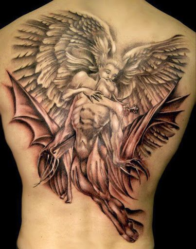 Angel And Devil Tattoo : angel, devil, tattoo, Τατουάζ