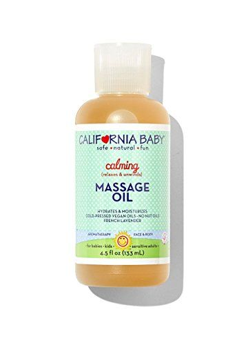 California Baby Calming Massage Oil 4 5fl 133ml Califor I Babay Skin Care For Newborns Organic Body Oils Massage Oil Organic Body