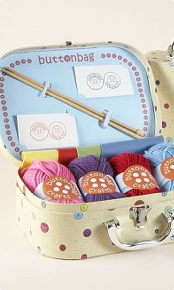 cutest christmas gift for little girl...learn how to knit kit (maybe a crochet version of this for Amelia in the future.. she wants to learn to crochet so badly)