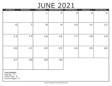 Printable Summer Calendar 2021 Print Monthly Calendar 2021 Free – Allowed to be able to my