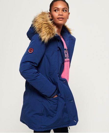 Details about Superdry Rookie Down Parka Jacket Deep Forest Size: XL 42