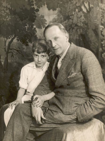 Print Of A A Milne With Christopher Robin In 2020 Christopher