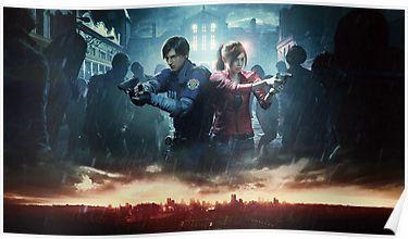'Resident evil 2' Poster by rifaterdogan35