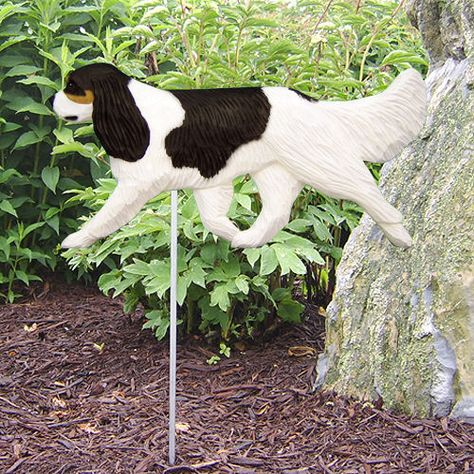4-Coat Styles-Cavalier King Charles Dog Garden Stake. Home Yard & Garden Dog Products & Gifts.