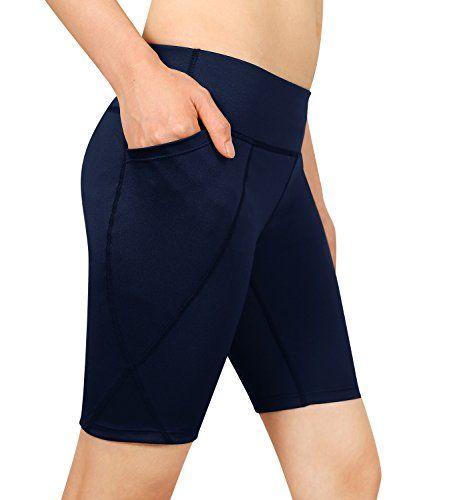 85aa0dea0a4a Cassiecy Femme Short de Sport Eté Fitness Pantalon Grande Taille Mode  Pantalons Courtes de Yoga avec Poche
