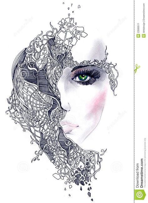 Abstract Woman Face - Download From Over 41 Million High Quality Stock Photos, Images, Vectors. Sign up for FREE today. Image: 23589511