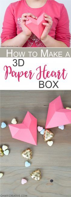 3d Origami Hearts How To Make 3d Origami Hearts With A How To