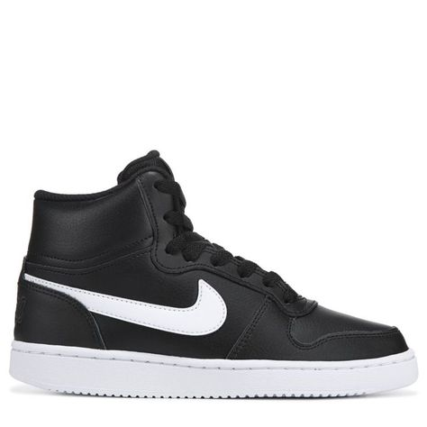 Bring out your casual side with the Ebernon High Top Sneaker from Nike. Leather upper in a low top sneaker style with a round toe Lace up entry for a secure fit Cushioned collar and tongue for added comfort Logo brand detailing Soft lining with a comfort footbed Rubber outsole with a durable traction tread, womens, sneakers, fashion, Shoes, athletic #Outfitsneakers #Cuteshoessneakers #Storagesneakers #Adidassneakers #Fashionsneakers #Buisnesscasualwomenoutfitssneakers