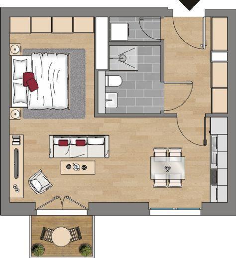 Pin Auf 1 Zimmer Wohnung