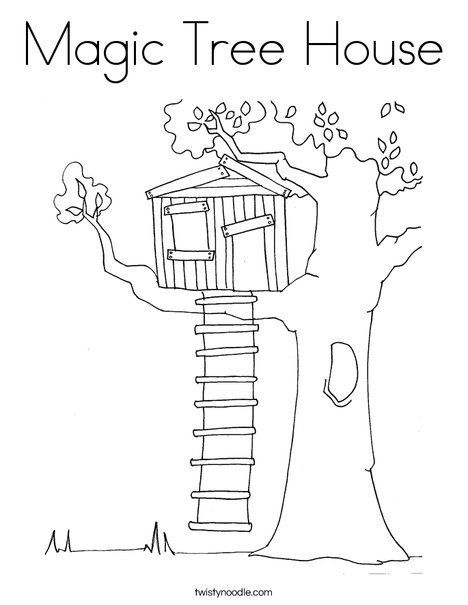 Magic Tree House Coloring Page Twisty Noodle Magic Tree House Books Tree House Drawing House Colouring Pages