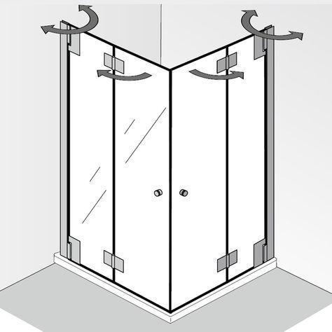 Hsk K2p Eckeinstieg Mit Drehfalttur Duschabtrennung Badezimmer
