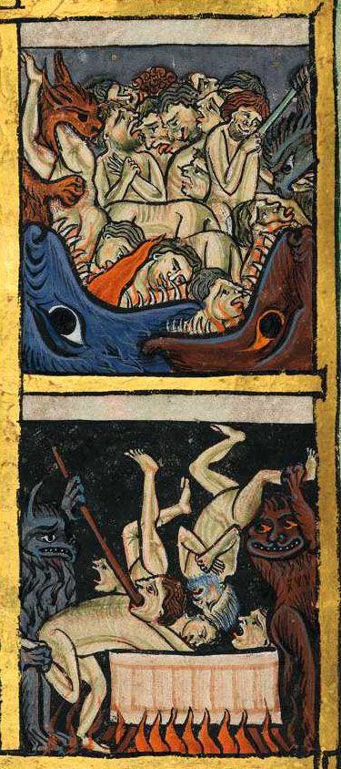 Bayerische Staatsbibliothek, BSB Clm 835, detail of image 66 (30v?). Psalter. England (Gloucester?), 1st quarter of the 13th century.