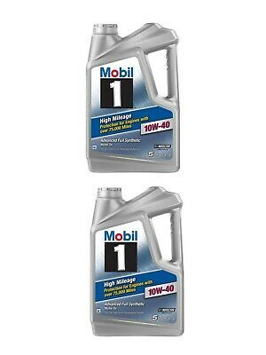 Details About Mobil 1 10w 40 High Mileage Full Synthetic Motor Oil 5 Qt Lubricate 2 Pack Lubricants Motor Oil Mileage