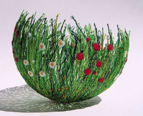 Grass Garden Bowls by Chocolate Frog constructed out of soluble lace
