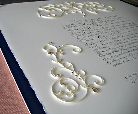 Quilled Ketubah by all things paper, via Flickr