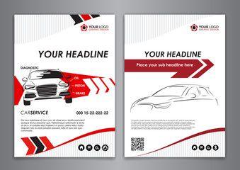 A5 A4 Set Service Car Business Card Templates Auto Repair