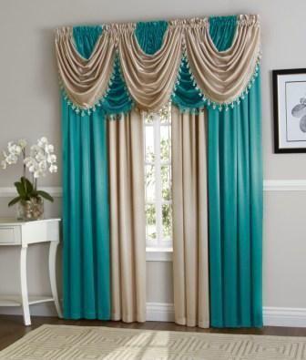 Aqua Beige Hyatt Curtain Set Each Hyatt Curtain Set Contains 4